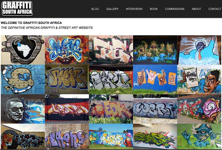 Graffiti South Africa website link