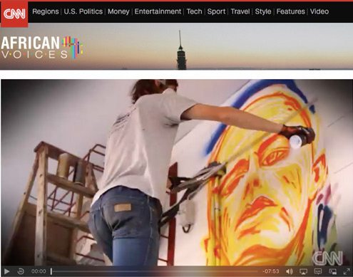 CNN video - Mook Lion South African graffiti artist