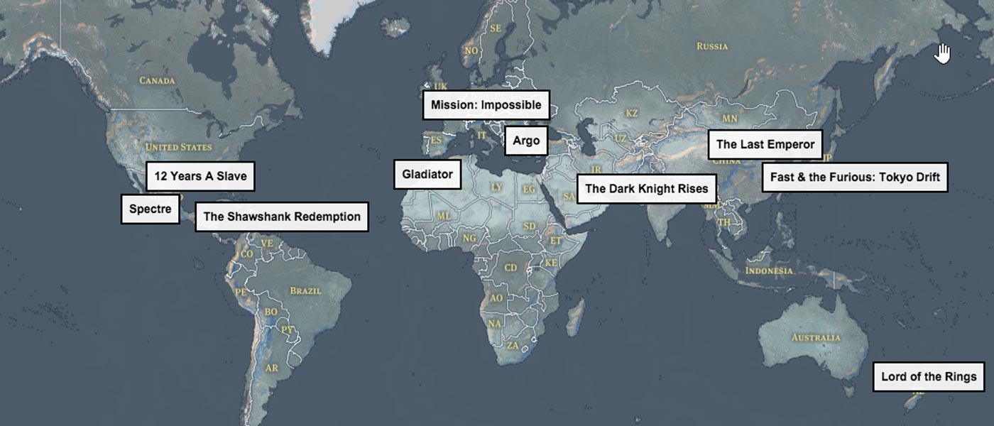 Movie Destinations Map