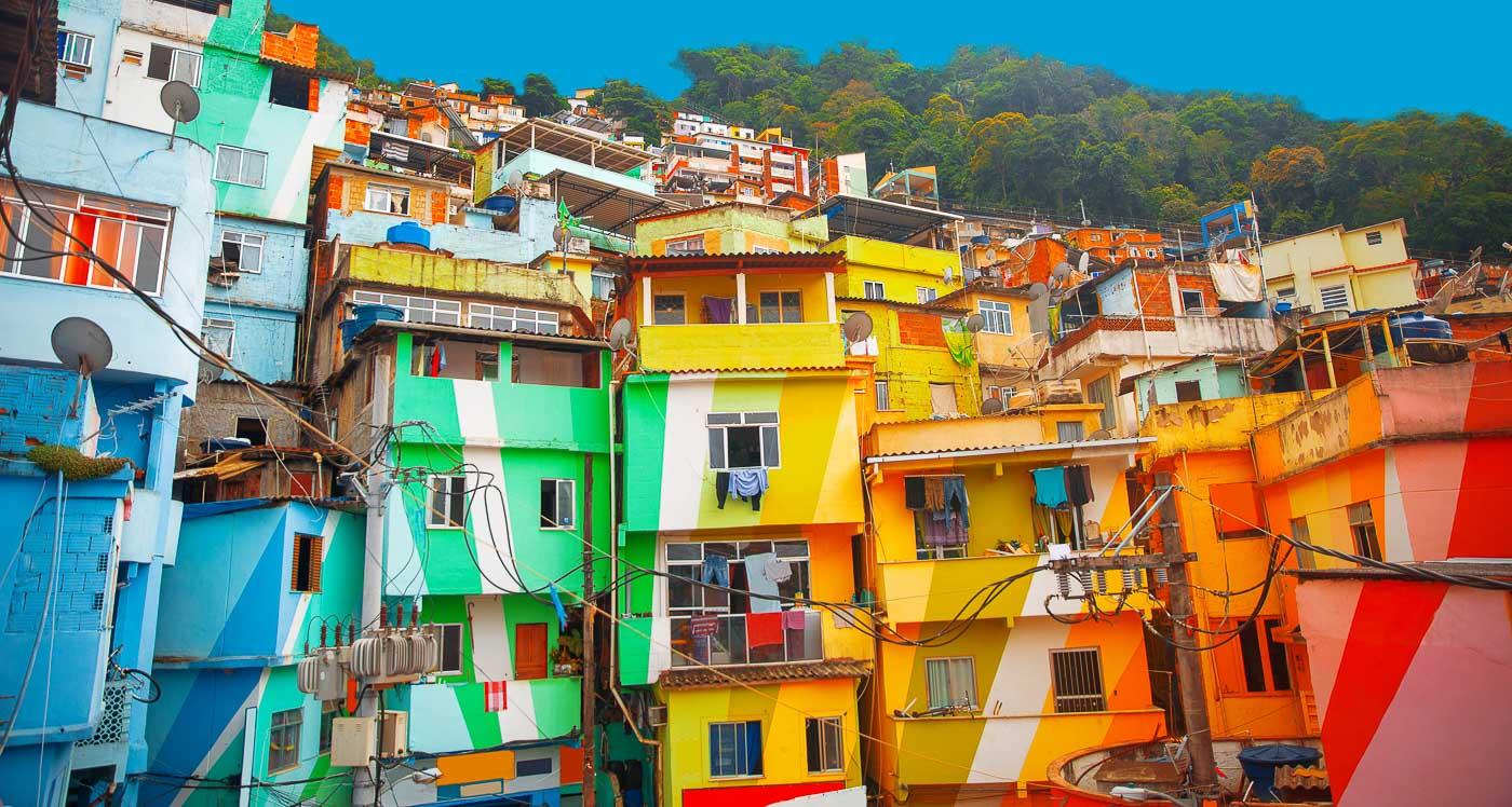 Colourful Cities by Zayah World - Favela Santa Marta, Rio de Janeiro