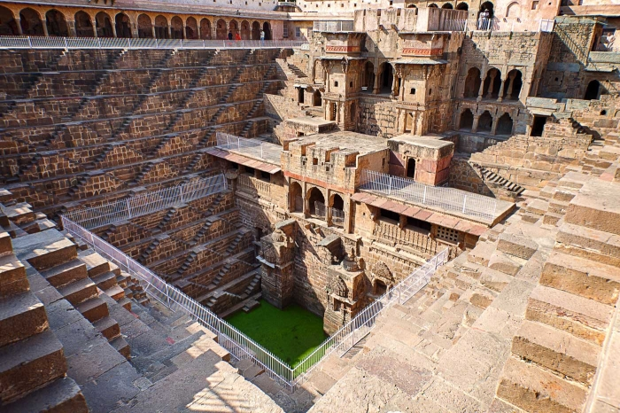 Memorable Staircase Designs - Chand Baori step well, Abhaneri, India