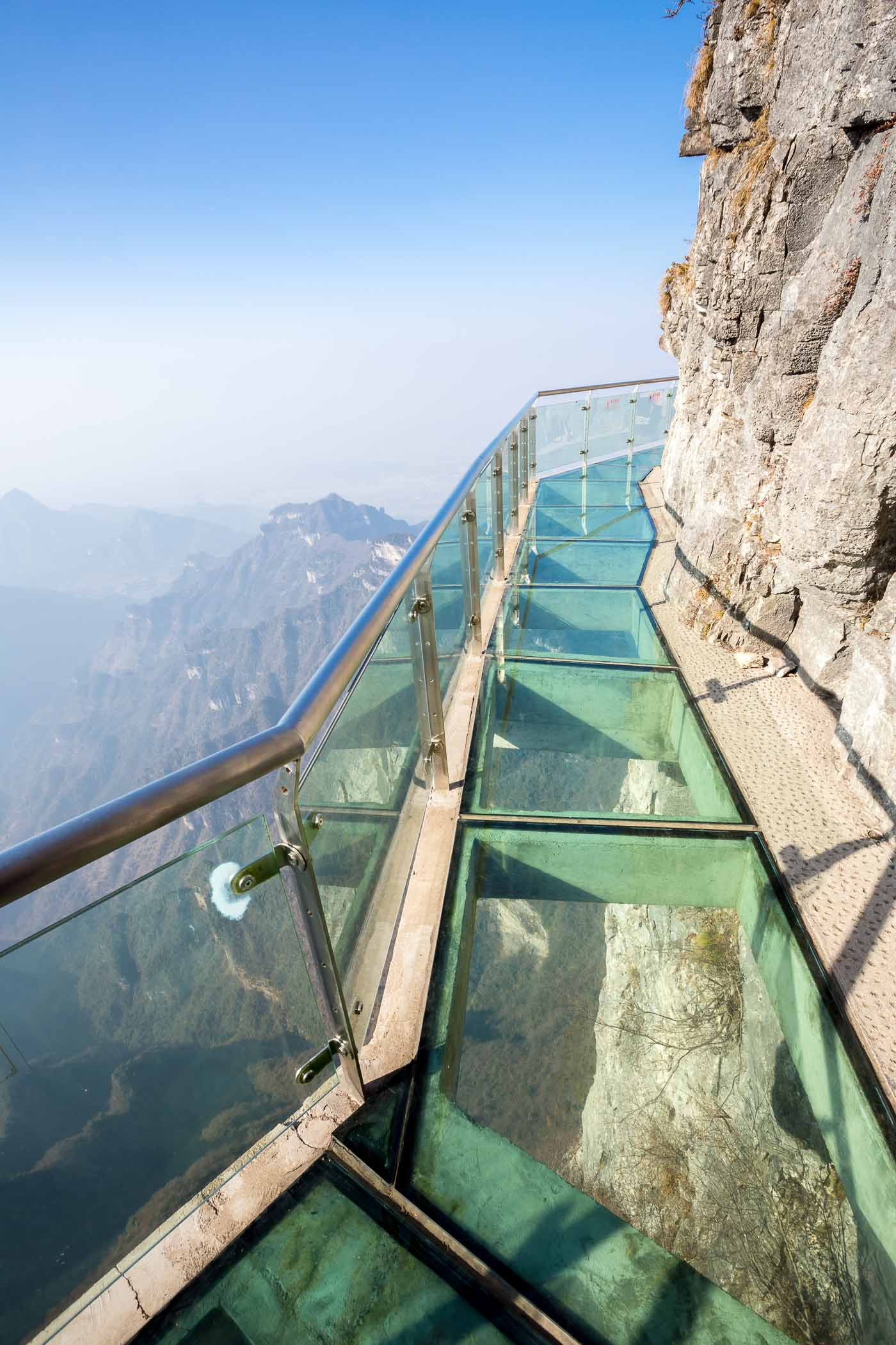 Memorable Staircase Designs - Walk of Faith, Tianmen Mountain, China